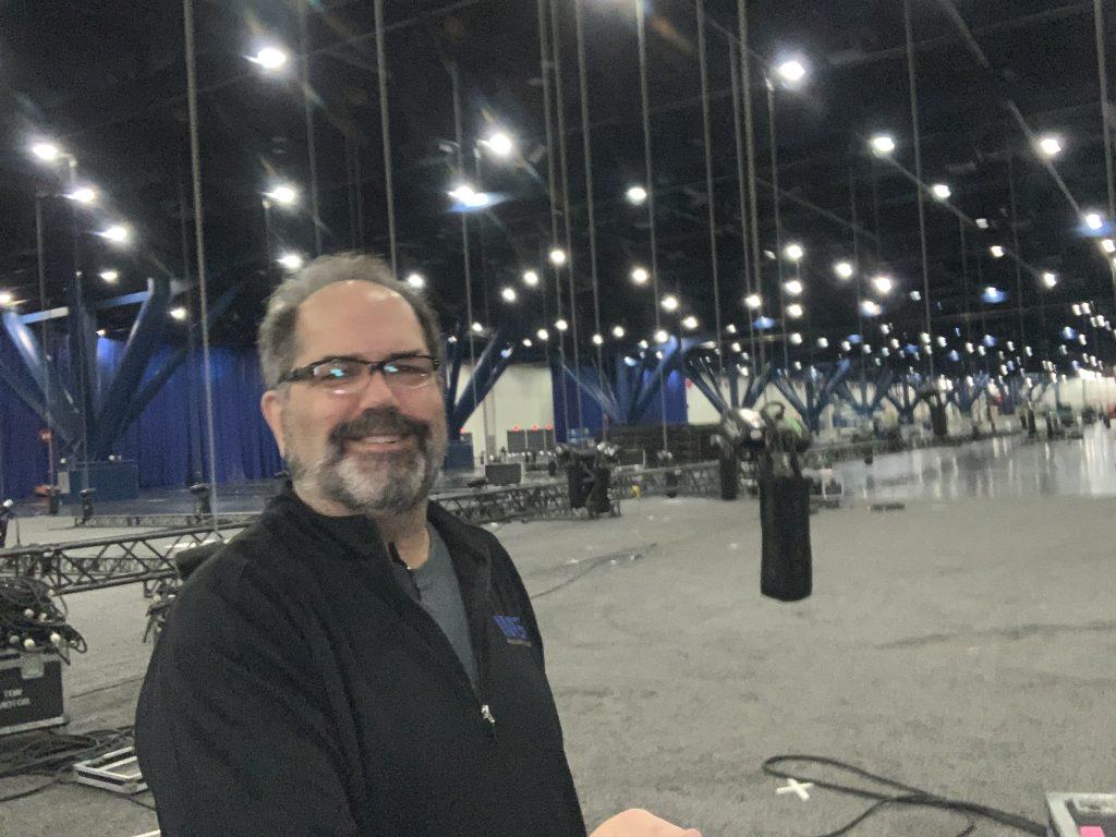 Scott C. Parker in Houston supervising a large rigging installation